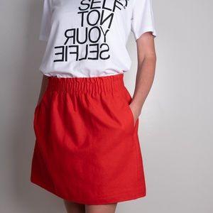 J.crew sidewalk skirt w/pockets & elastic waste